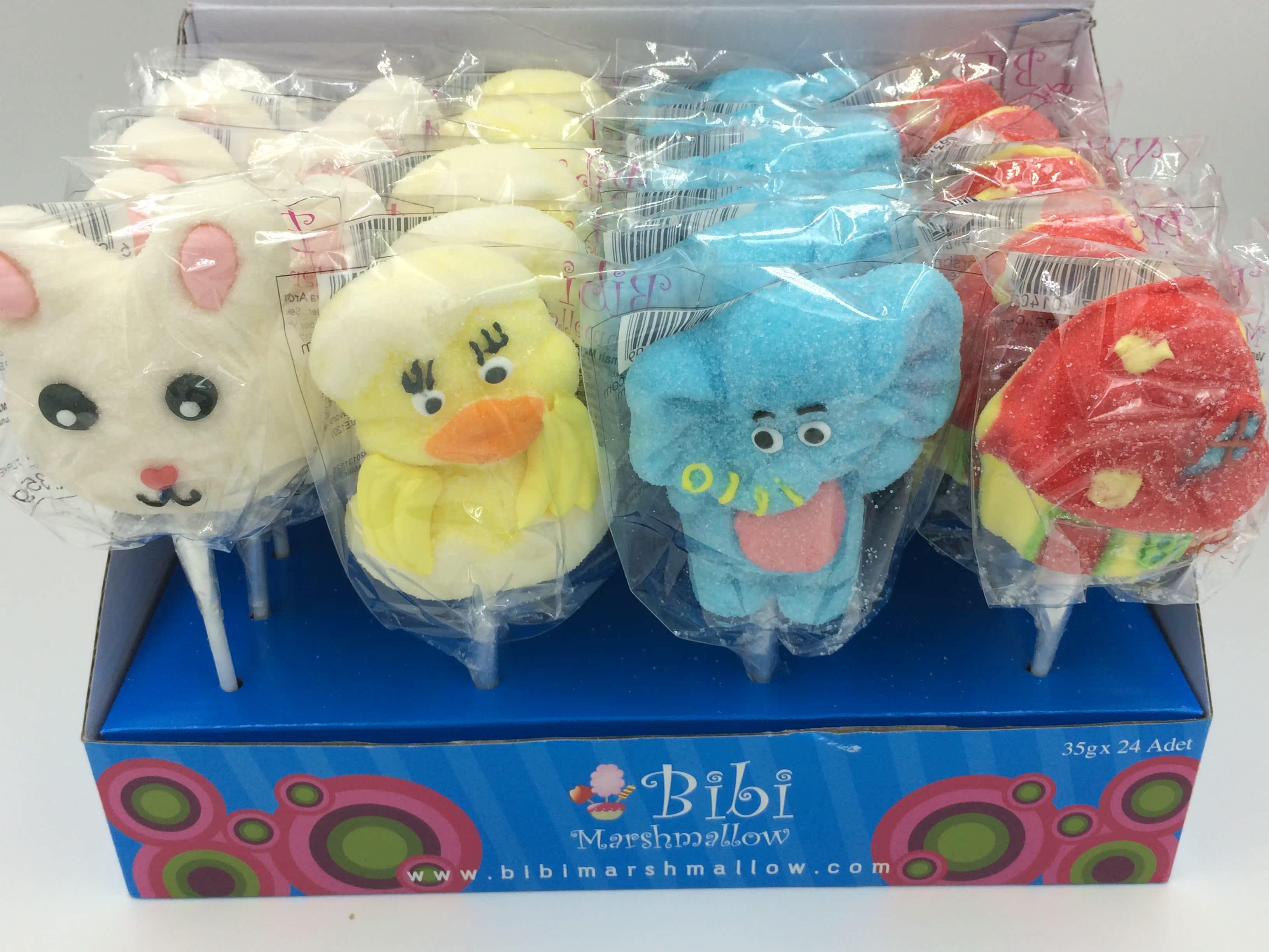 【糖果乐园】零食糖果棒棒糖特产礼品包 可爱兔子鸭子等棉花糖