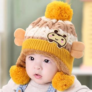 [阿里年货节] 婴儿帽子冬男女宝宝帽子儿童套头婴幼儿小孩加绒帽3-6-12个月