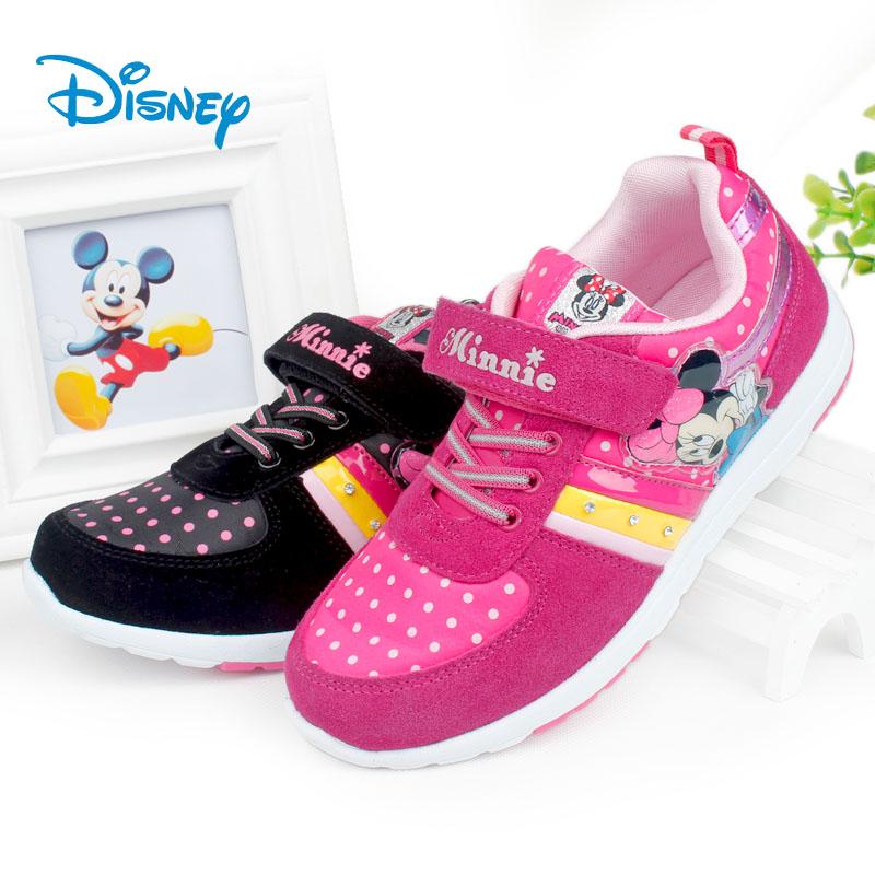 迪士尼Disney儿童鞋2014秋 女童水钻运动鞋小童米奇中大童休闲鞋