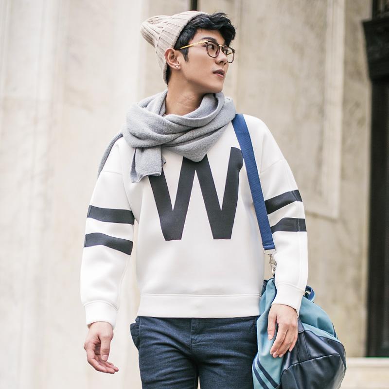 时尚冬装韩版套头棉卫衣W433432
