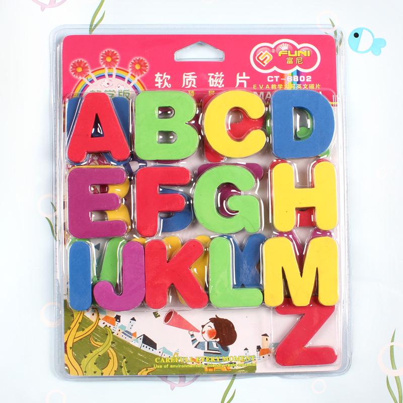 幼儿园教具数字英文字母磁贴教学磁性贴