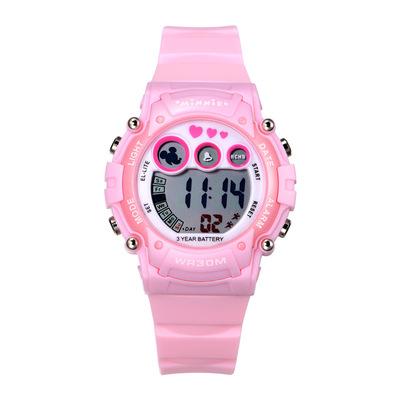 迪士尼女童电子表 夜光防水女孩果冻儿童手表 卡通米奇小学生手表