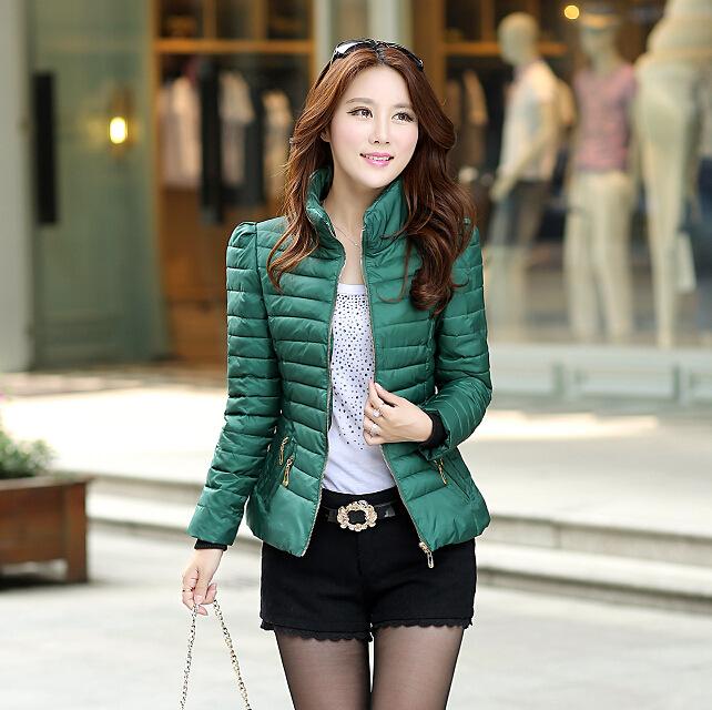 女装羽绒棉女式短款棉衣 韩版时尚立领修身羽绒棉棉服