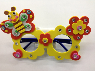 eva眼镜 卡通动物装饰 diy手工制作益智个性材料3d立体幼儿美劳课