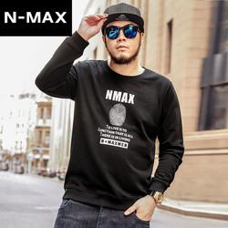 NMAX大码男装潮牌秋装新款加肥加大长袖T恤潮流印花圆领套头卫衣