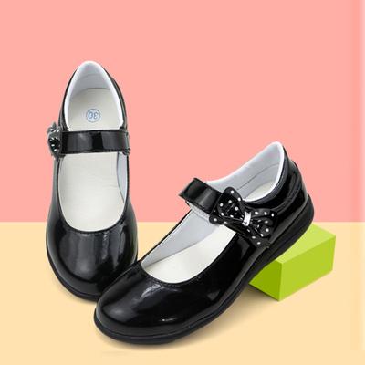 女童皮鞋儿童鞋2016春秋季新款韩版公主鞋蝴蝶结黑色学生演出单鞋