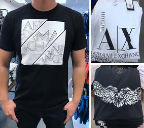 精选多款 美国代购 现货 Armani Exchange Ax男士字母印花短袖T恤
