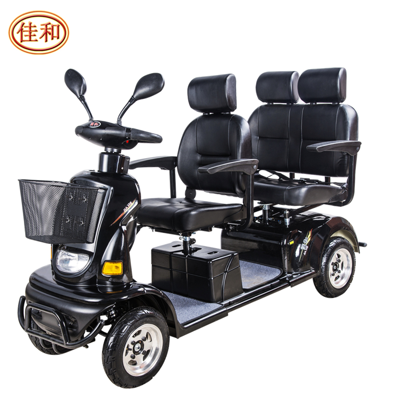 中外合资 佳和代步车 豪华三人座椅老年电动四轮车残疾代步四轮车