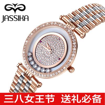 正品梅花鹿腕表女士手表正品复古精钢带手表防水镶钻精致石英女表