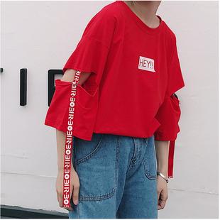 夏季宽松t恤女短袖 潮韩版学生闺蜜姐妹装休闲原宿bf风半袖上衣服