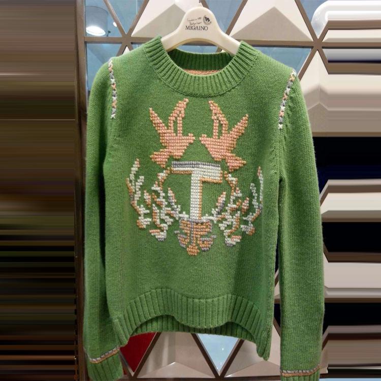 MIGAINO曼娅奴专柜正品2014秋冬新款女毛衣打底针织衫女ME4WH023