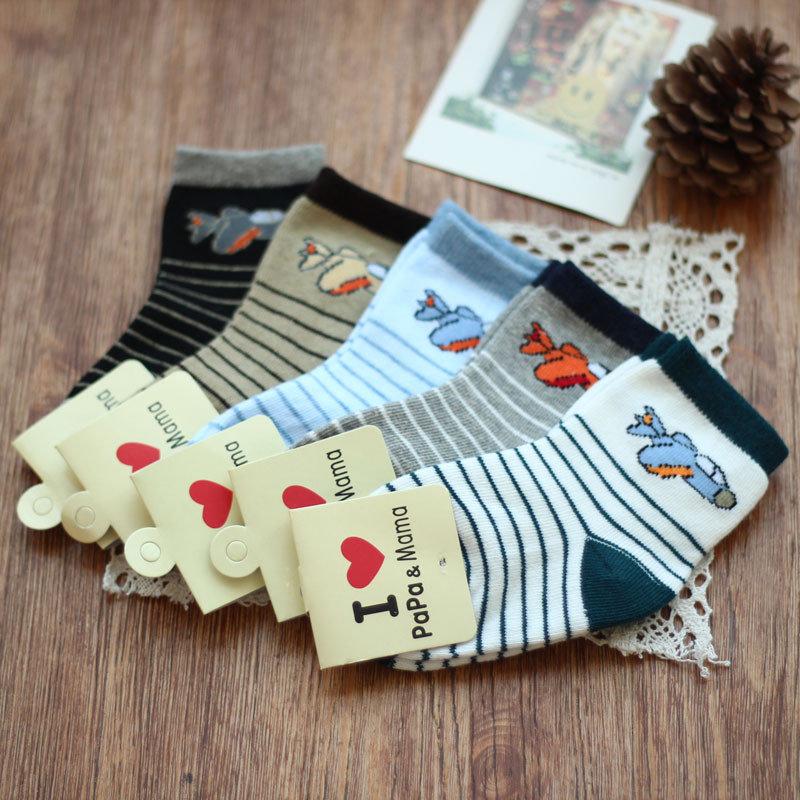 儿童袜子宝宝袜男童袜子纯棉男孩袜小孩袜学生袜夏童短袜卡通可爱