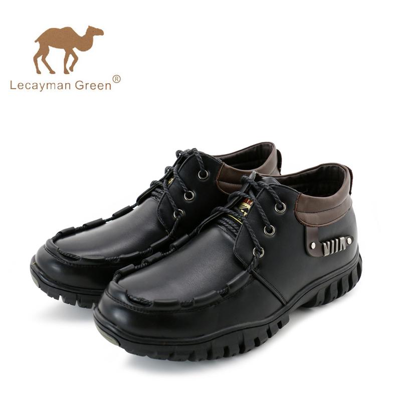 2014秋冬季新款正品骆驼王男士真皮户外休闲鞋英伦韩版加绒男鞋子