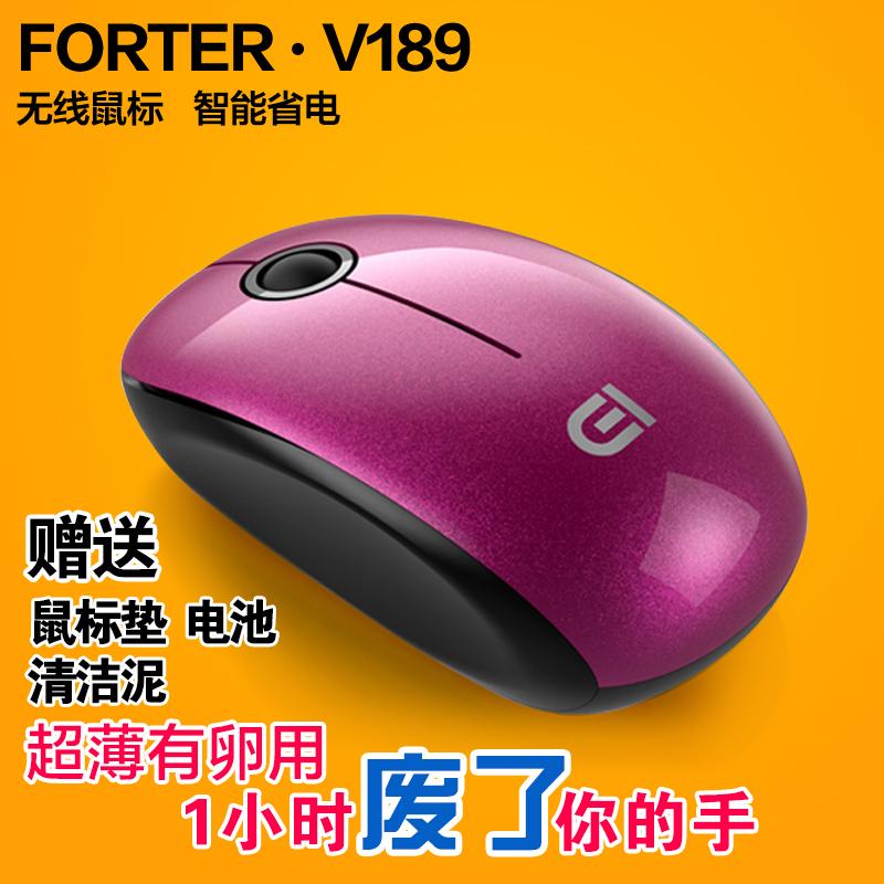 富德V189正品办公省电无限台式电脑笔记本迷你小女生可爱无线鼠标