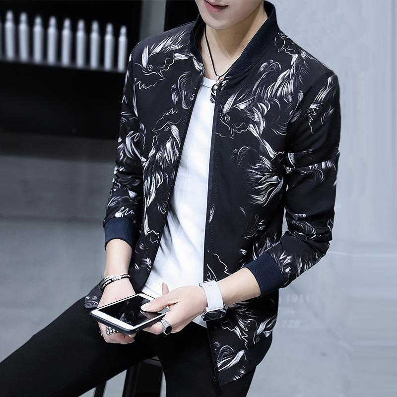 学生春季男韩版男士衣服夏天帅气修身外套春装潮流夹克
