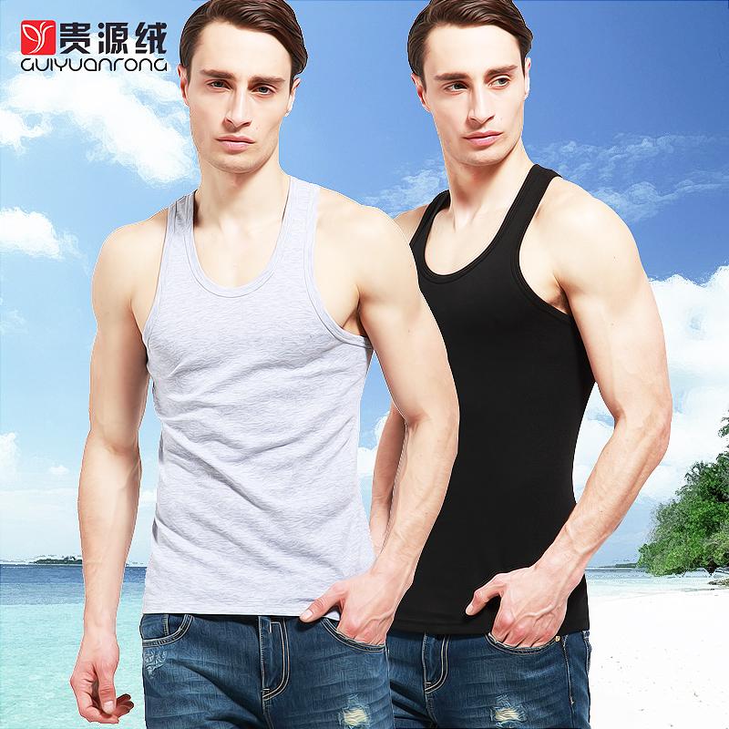 贵源绒男士背心 运动棉质背心夏季健身运动紧身打底汗背心男 包邮