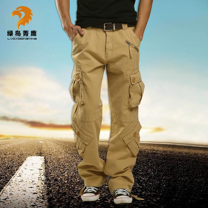 绿岛菁鹰  工装裤男长裤多袋裤男休闲裤冬季宽松多兜裤加肥加大码