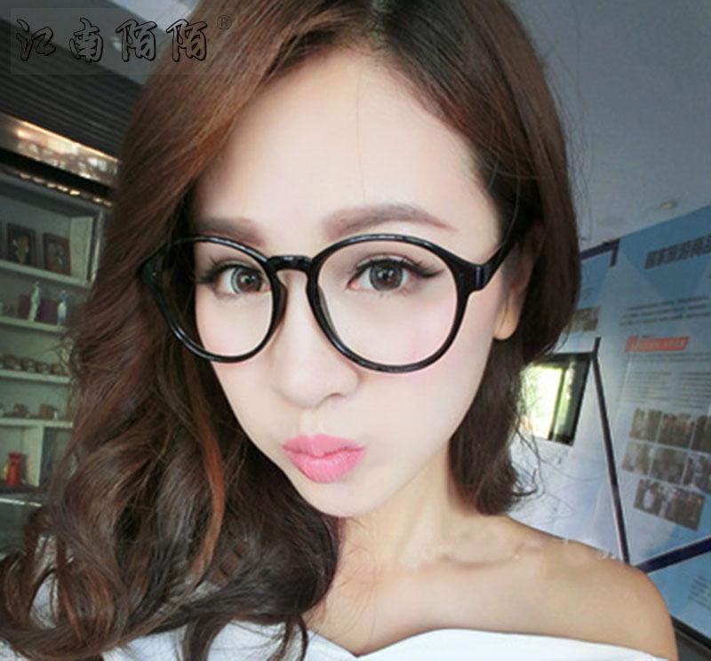 【天天特价】防辐射眼镜复古大圆框平光镜 可配近视电脑护目眼镜