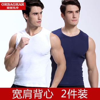 背心男士纯棉无袖t恤修身型夏季