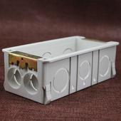 通用118型三位接线盒暗盒连体底盒子电线下线盒暗装 开关插座正品