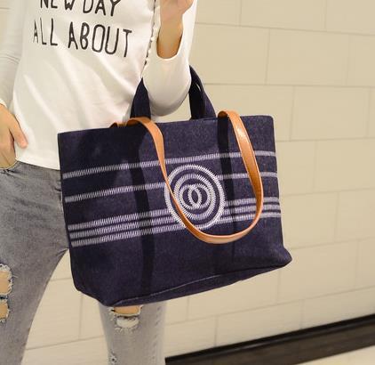 2015双C新款韩版四季街头潮流女时尚手提单肩斜跨帆布包女士大包