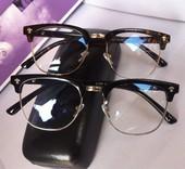 韩版半框防辐射眼镜男复古大脸近视眼镜架女潮蓝光眼镜框光学配镜