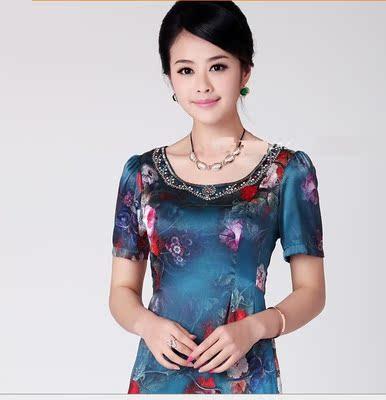 杭州高档重磅100桑蚕丝真丝连衣裙修身显瘦精品女装 特价清仓处理