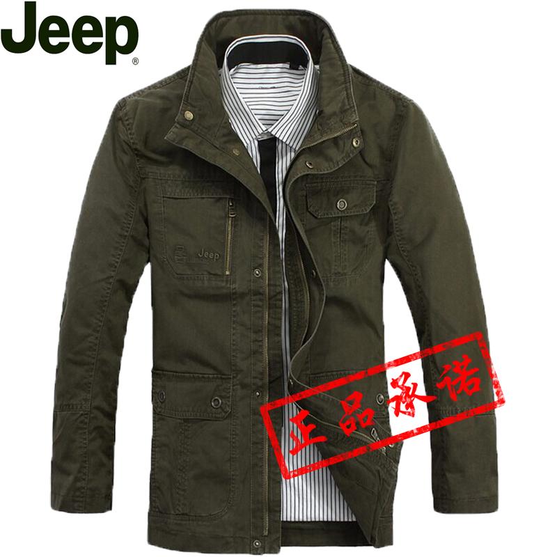 2014春秋新品吉普jeep夹克男士外套薄款男装商务休闲大码男夹克衫