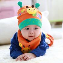秋冬季韩版婴儿帽子宝宝套头帽新生儿帽子0-1岁男童女童儿童帽子