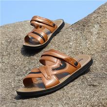 透气爸爸凉拖鞋 软底沙滩鞋 拖鞋 男鞋 子夏季休闲潮越南凉鞋 户外男士