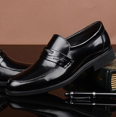 正品富贵鸟2014男鞋秋季新款真皮高档商务正装皮鞋男士软面皮鞋子