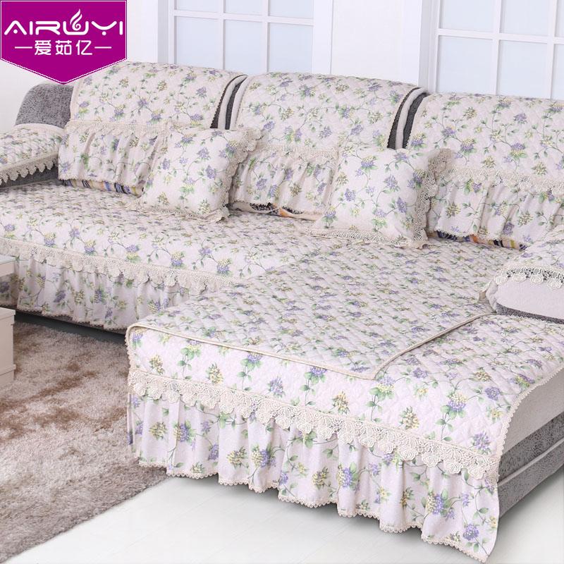 布艺田园沙发垫套坐垫椅垫