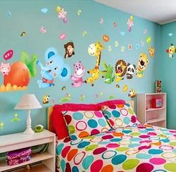 幼儿园教室布置装饰墙贴纸卡通可爱动物墙壁装饰儿童房小动物贴画
