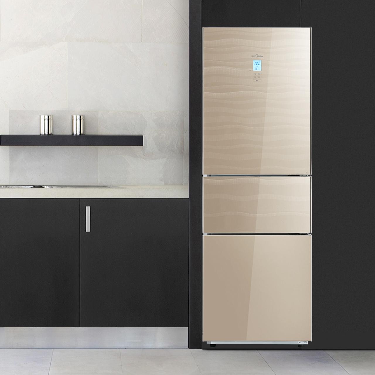 三开门电冰箱节能家用电脑智能 E 235TGZM BCD 美 Midea
