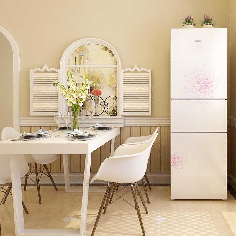 三门电冰箱三开门节能家用冷藏冷冻静音 E 210TM BCD 美 Midea