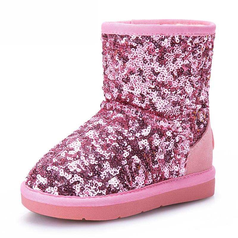 冬款雪地靴儿童短靴子女童鞋大童冬靴宝宝棉靴2016秋冬季新款棉鞋