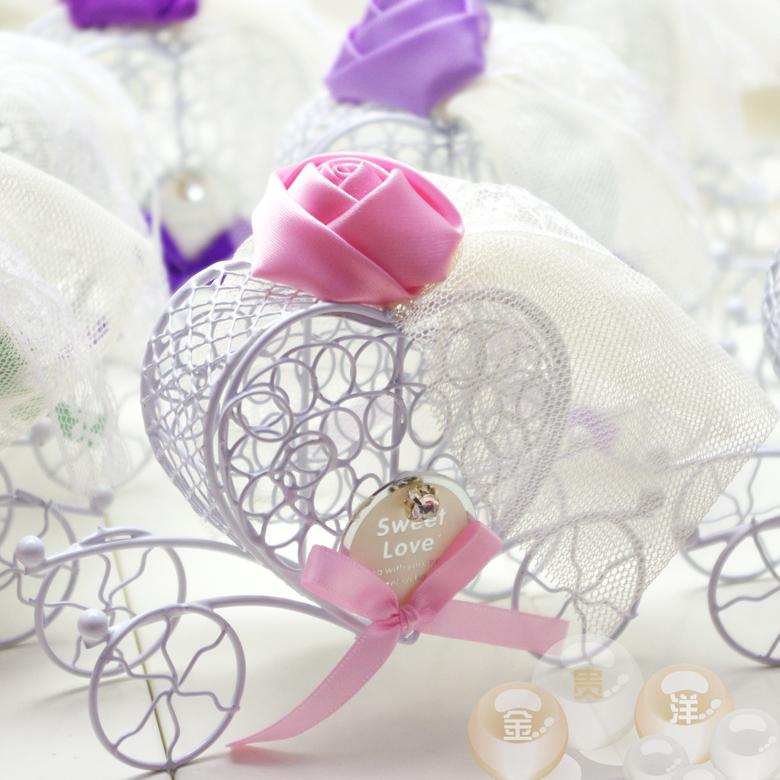 金贵洋新品结婚用品喜糖盒子欧式创意婚庆糖盒喜糖袋婚礼糖果盒
