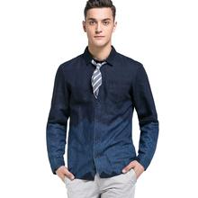 JackJones杰克琼斯含亚麻男植物染色撞色拼接长袖衬衫S|216105031