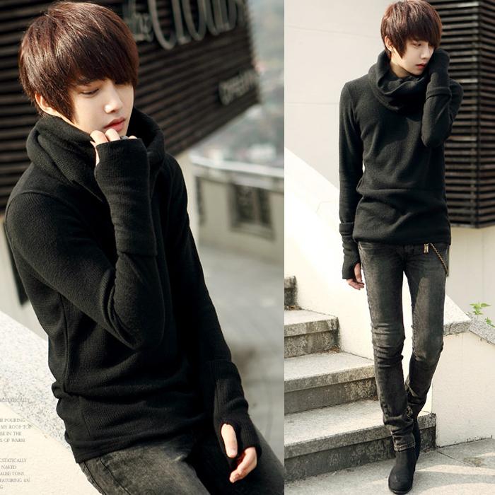 2013 秋冬新款 时尚男士韩版圈圈长袖针织衫 英伦男款修身毛衣男