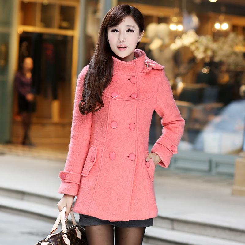 街蘑菇2014秋冬装新款女装韩版外套女式风衣潮秋冬折扣800中长款