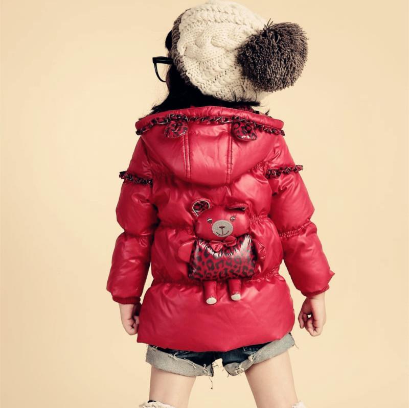 女童羽绒服2013新款 中长款儿童装女宝宝冬装小童羽绒冬装外套