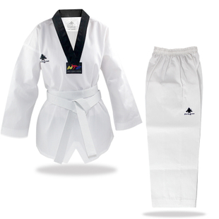 新款跆拳道道服 教练道服 正品松树 成人道服三条纹高级成人道服