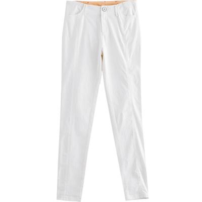 茵曼女装秋装新款显瘦白色休闲裤女裤小脚裤铅笔裤长裤1863091041