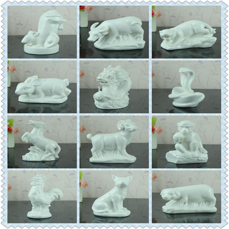 十二生肖鼠牛虎兔龙蛇马羊侯鸡狗猪 动物摆设 陶瓷工艺品摆件礼品