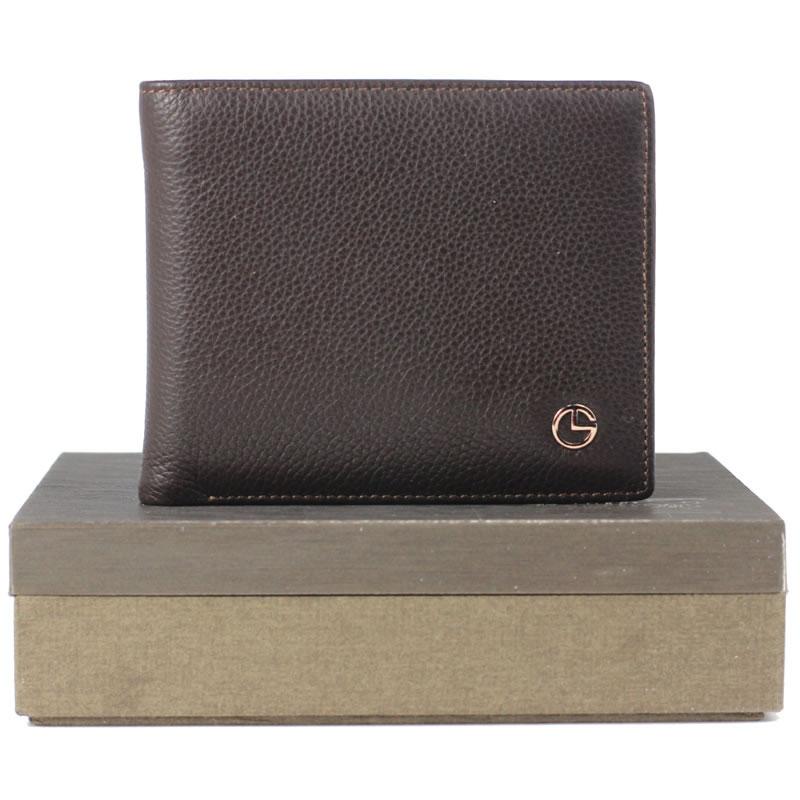 2013新款金利来男士钱包真皮正品 短款票夹 包邮 GB733C3 黑咖色