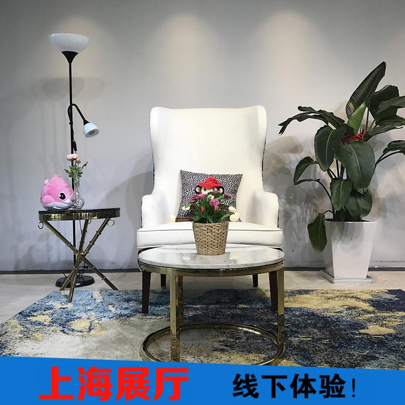 正品打折欧式老虎椅美式单人沙发现代休闲设计款北欧实木单人后现代高背椅 原价2480.00元 现价2480.00元包邮抢购专卖店品牌专卖