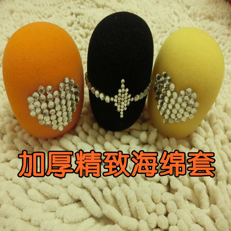 3色防喷罩海绵罩 KTV麦克风套 防风 话筒套 海绵套 话筒罩