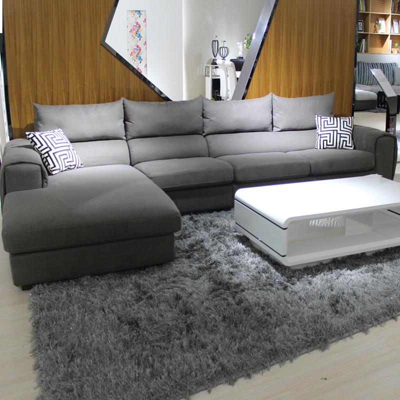 木子布艺沙发 可拆洗布艺软沙发 L型转角组合 中小户型客厅家具
