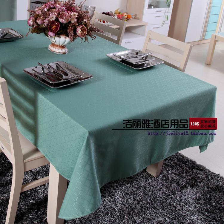 高档欧式桌布 茶几布 酒店桌布 餐厅桌布 台布 饭店桌布 绿色格子