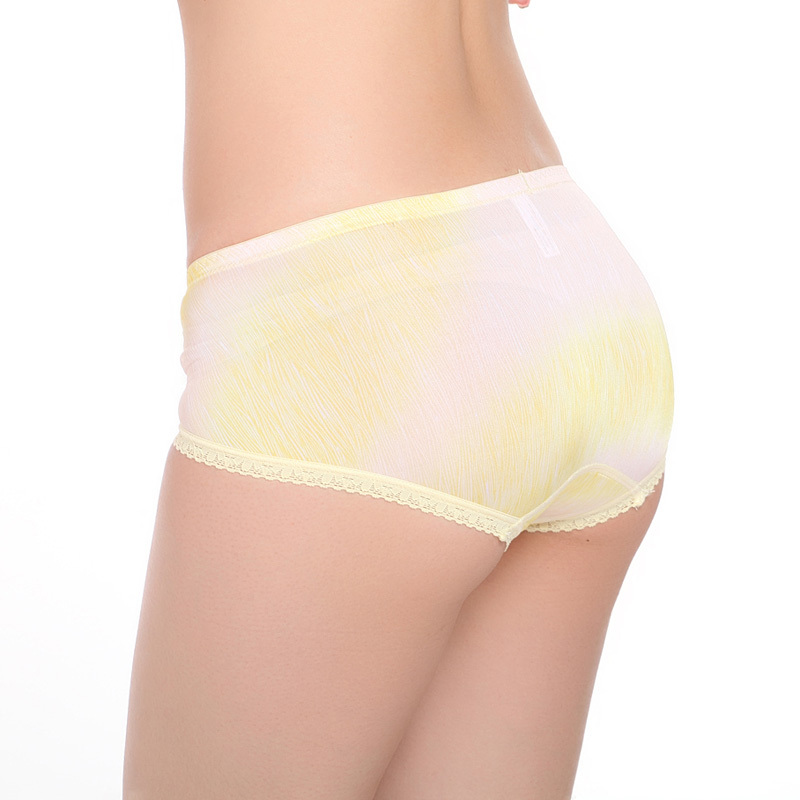 曼蝶莉7251 再生纤维中腰抗菌性感妩媚蕾丝花边三角裤女士内裤